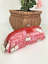 Coach Cosmetic Bag Brush  Perfume Bottles Pink Framed Kisslock  40522 M7
