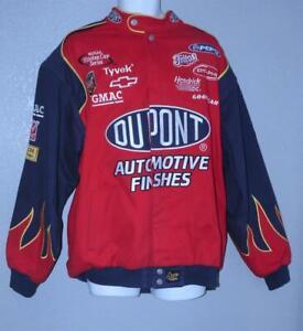 VTG JEFF GORDON 24 NASCAR RACING JACKET CHASE AUTHENTICS DUPONT FLAMES XL : VGC