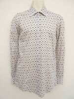 Hugo Boss - Mens Cream / Brown Spotted Long Sleeved Shirt - size M