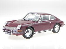 Porsche 911 T 1969 dunkel rot Modellauto 187630 Norev 1:18
