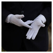 Blanc Gants Polyester Parade Ordre Sécurité Cadets Armée Police Bandeau Mode