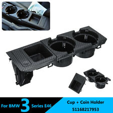 Carbon Fiber Center Console Drink Cup Holder Storing Box For BMW 3 Series E46 US