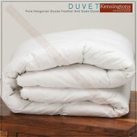 Luxury Hungarian Goose Feather & Down Duvet Quilt 100% Cotton All Season Bedding
