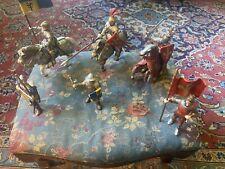 Schleich Ritter Konvolut 3 Pferde/3 Fußsoldaten gebraucht, mit Gebrauchsspuren
