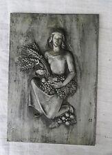 """Buderus arte fundición de hierro fundido de Heinrich moshage wandrellief """"mujer con espigas"""""""