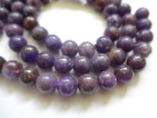 8mm Round Natural Lepidolite Semi Precious Gemstone Beads - Half Strand, 23-25pc