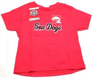 MiLB Portland Sea Dogs Youth Tee T-Shirt Soft as a Grape Red New NWT