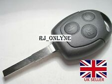 A NEW 3 BUTTON UNCUT REMOTE KEY FOB for FORD FOCUS/MONDEO/GALAXY/CMAX etc