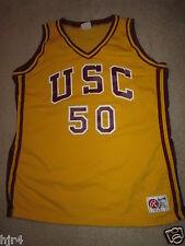USC Southern California Trojans #50 NCAA Basketball Game Worn Used Jersey 44