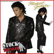 Michael Jackson Billie Jean Black Jacket and Pants Cosplay Costume NN.251 Hot