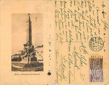 Milano - Monumento alle 5 Giornate ANNO 1923 TIMBRO FERROVIA (S-L XX246)