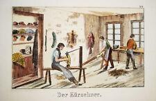 Kürschner Pelz Mantel Mütze Mode  Lithographie 1820