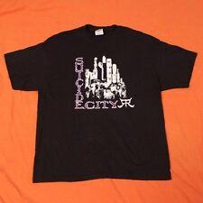 SUICIDE CITY T-Shirt Men's XL Horror Punk Band Black Biohazard Kittie Fans