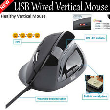 W30 High Speed USB Wired Vertical Mouse 2400DPI Optical LED Mouse Mice Indicator