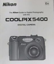 NIKON COOLPIX 5400 DIGITAL CAMERA OWNERS INSTRUCTION MANUAL -NIKON