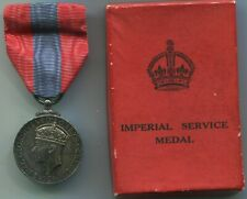 Medal Imperial Service Medal GVI Chargeman of Slingers Shipbuilding Plymouth DY