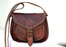 Women Purse Vintage Genuine Brown Leather Cross Body Shoulder Handmade bag india