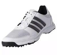 New Adidas Tech Response Men's Golf Shoes White/Silver/Black Size 8.5 FSTSHP