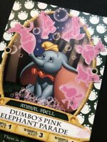 RARE! Card #62.  Sorcerer's of the Magic Kingdom Dumbo's Pink Elephant Parade.