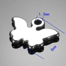 20pcs Stainless Steel Butterfly Charm Pendant Jewelry Making Supplies 8x10mm