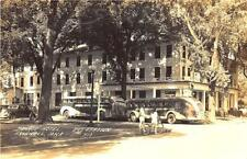 Grinnell Ia Greyhound Bus Station Monroe Hotel Rppc Postcard