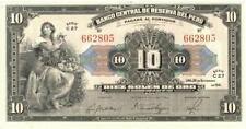 Peru 10 Soles Currency Banknote 1941 XF