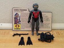 Vintage 1985 GI Joe Cobra EELS Diver Frogman Near Complete file card