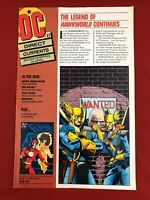DC Direct Currents #27, 1990, The Legend of Hawkworld Continues, 8 pgs., Good
