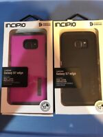Lot Of 2pc Incipio Samsung Galaxy S7 Edge DualPro Case - Pink Grey- Black Black