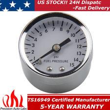 "High performance 1561 Fuel Pressure Gauge, 1-1/2 Inch, 0-15 PSI, 1/8""NPT Chrome"