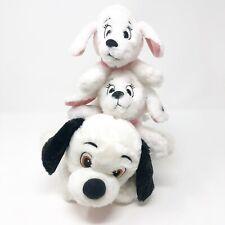 Vtg Disney Store 101 Dalmatians Puppies Plush Penny Dog Stuffed Lot 3 Cruella