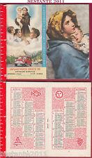2614 Santino Holy Card Pocket Calendar 1962 S. Antonio orphanage Messina