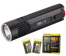 NiteCore EC4S 2150 Lumens LED Flashlight w/ 2x18650 Batteries & i2 Charger