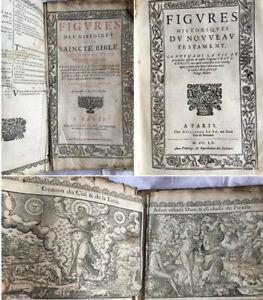 1663 Figures Des Histoires Saincte Bible Nombreuses Illustrations Livres Anciens