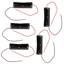 5pcs Plastic 1x 18650 Rechargeable Battery 3.7V Clip Holder Box Battery Case New