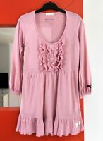 ODD MOLLY M511-802 Long Sleeve Viscose-Wool Blend Pink Tunic Top size 1 (S)