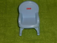 Fisher Price My First Dollhouse Light Blue Rocking Chair