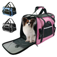 Pet Carrier Soft Sided Cat Dog Comfort Travel Tote Bag Airline Approved Shoulder