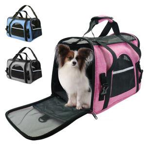 Pet Carrier Soft Sided Cat Dog Comfort Travel Tote Bag Airline Approved Shoulder