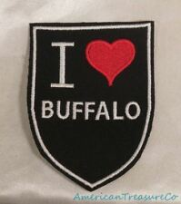 Embroidered Retro Vintage Style I Love Buffalo New York NY State Patch Iron On