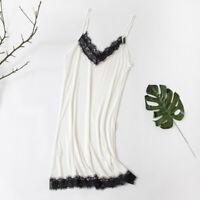 Women Silk Vest Dress Lace Camisole Lady Petticoat Tank Top Nightdress Extender