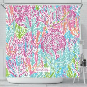 Lets Cha Cha Lilly Pulitzer Pattern Shower Curtain