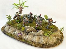 Small Jungle Hill with tree wargaming terrain, 40k, AoS, trees, DnD,scenery