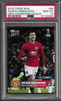 PSA 10 Mason Greenwood RC 2019 Topps NOW Manchester United Rookie Card #59