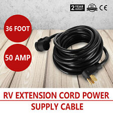 36 Foot 50 Amp RV Extension Cord Power Supply Cable for Trailer Motorhome Campe