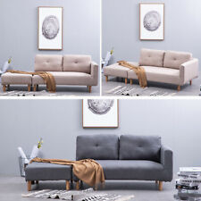 Upholstered Modern 3 Seater Sofa Button Loveseat Chair Settee Sofas Compact Seat