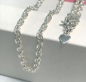 Sterling Silver Rope Chain Anklet, Ankle Bracelet, UK Handmade, Optional Heart