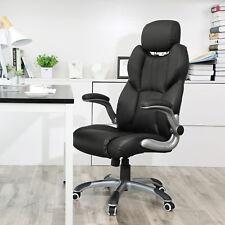 Bürostuhl Chefsessel ergonomischer Drehstuhl PU computerstuhl Schwar OBG65BK