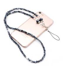Imitation Pearls Long Neck Strap Lanyard Keychain Necklace For Mobile Phone