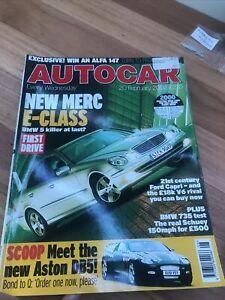 Autocar Car magazine FEB 2002 CAPRI 735 DB5 VECTRA CUPRA EXIGE LUPO GTI E CLK